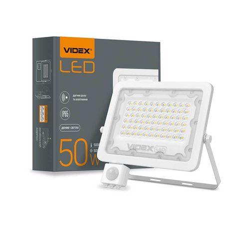 LED прожектор VIDEX F2e 50W 5000K с датчиком движения и освещенности