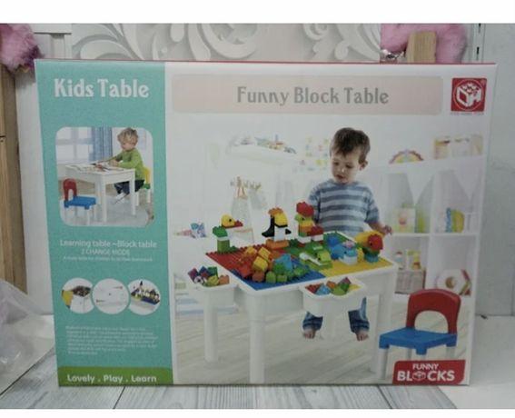 Детский пластиковый столик для конструктора и творческих занятий со ст