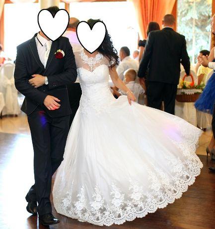 suknia ślubna princessa + bolerko