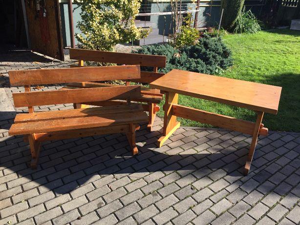Stół drewniany + ławy