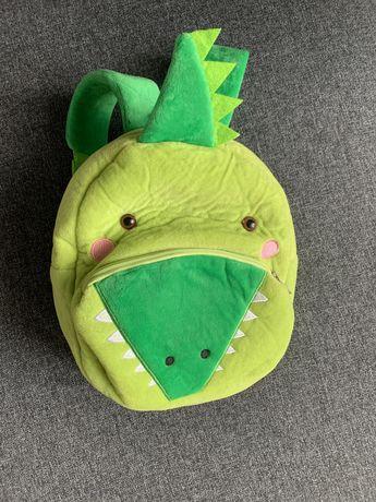Плюшевый детский рюкзак для малыша дракончик динозавр