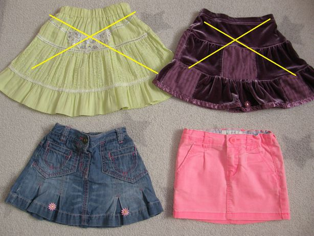 Spódnica, spódniczki na lato dla 2 - 3 latki, Next, H&M. r. 98/104