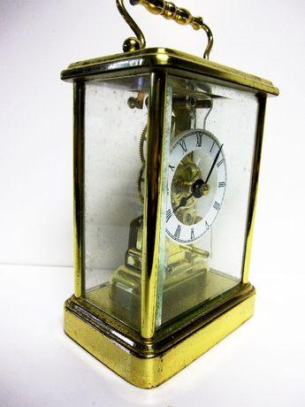relógio de mesa quartzo em forma de relógio antigo com caixa em latão