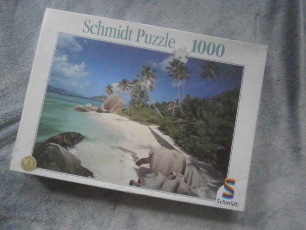 Nowe puzzle Schmidt laguna morze palmy plaża Seszele 1000 elementów