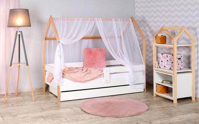 Łóżko Domek 160x80- drewno bukowe zestaw z materacem -od producenta.
