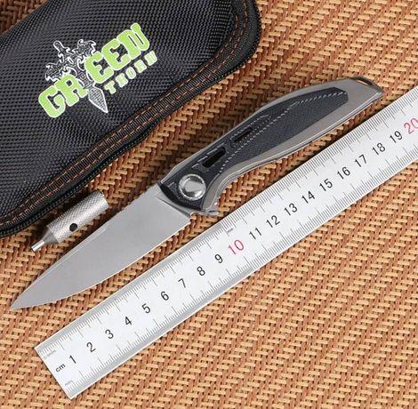 Складной нож Green Thorn Neon. Cталь D2 + карбон + титан! 92 грамма!