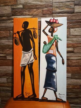 Quadros artesanato África Luanda Angola