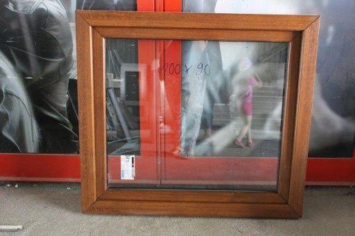 okno pcv złoty dąb 100x100 tanio od ręki nowe tania wysylka