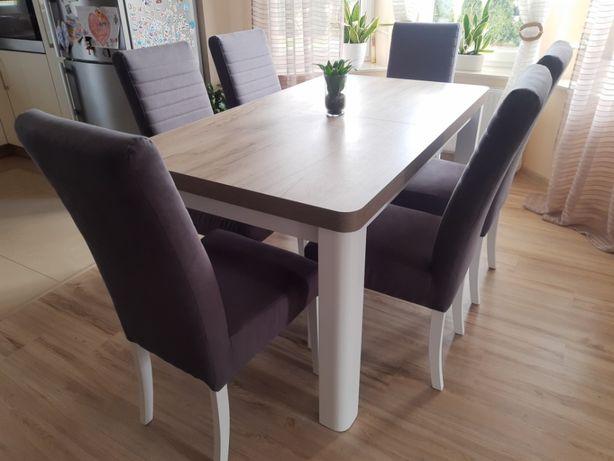 Stół + krzesła - komplet stołowy