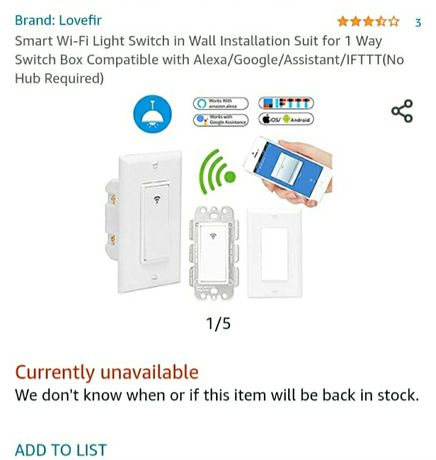 Smart light switch/ inteligentny włącznik światła