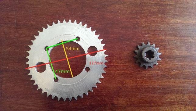 pocket dirt mini quad cross bike zębatka 44Z + 14Z do łańcucha T8F.