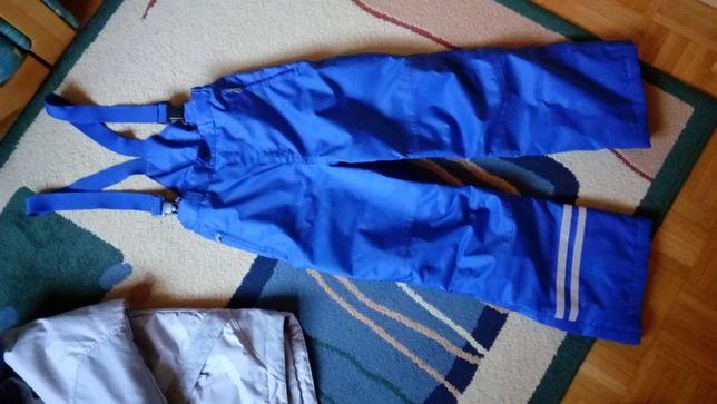 Spodnie zimowe z szelkami młodzieżowe na narty