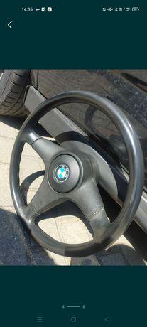 Kierownica BMW e34 trójramienna , OBC , zaślepki