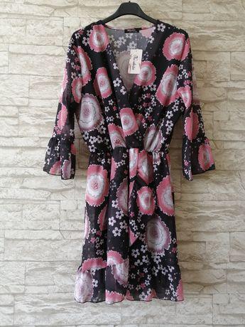 Nowa sukienka w kwiaty S-L uniwersalna