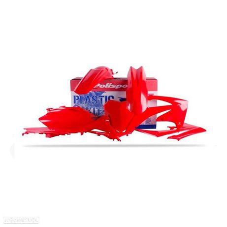 kit plasticos polisport vermelho honda crf 450r / 250r