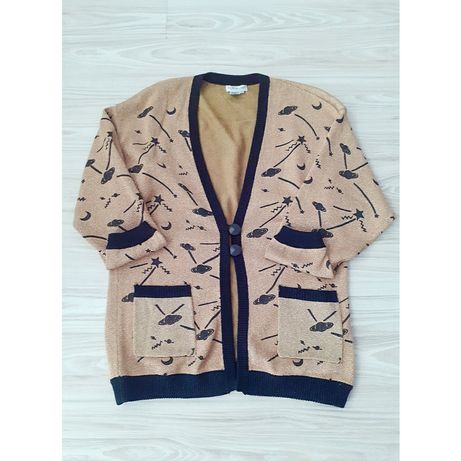 Hit Długi sweter blezer kardigan Outlander vintage plus size 46 48 xxl