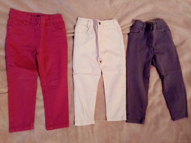 Spodnie dla dziewczynki 92/98 sztuka 5 zł