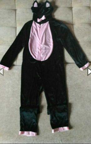 Кигуруми , велюровый карнавальный костюм кошки, на возраст 9-10лет