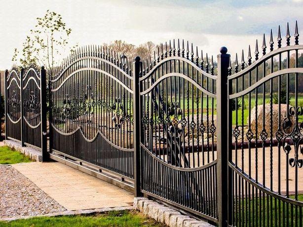 ворота, огорожі,перила, мафи.