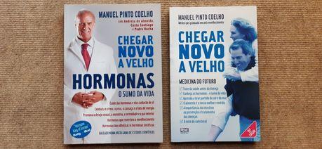 2 livros Manuel Pinto Coelho - hormonas / medicina do futuro