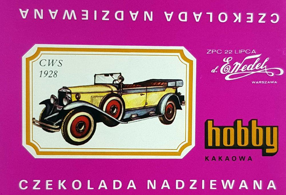 Hobby Wedel Opakowania czekolad - Seria C - Samochody Warszawa - image 1