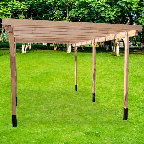 Wiata garażowa drewniana carport 300 x 500 x 210 cm