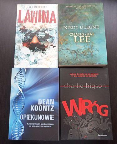 Zestaw książek, 4 szt. thrillerów