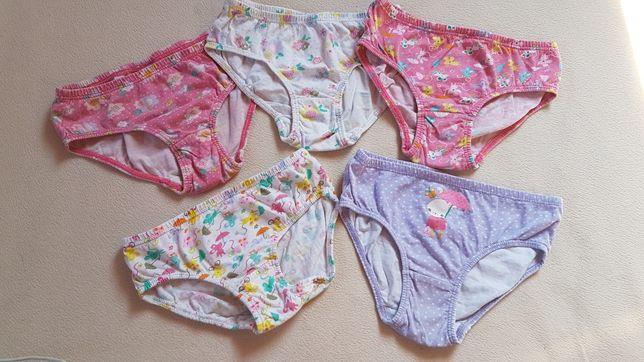 5 par majtki h&m dziewczynka roz 98-104