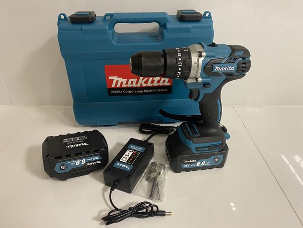 Очень мощный аккумуляторный шуруповерт Makita 36v 6.0a безщеточный!