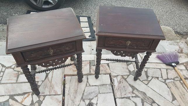 Mesas cabeceira Madeira maciça