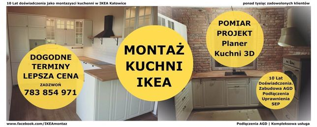 Montaż Kuchni IKEA Projekt Pomiar 15 lat doświadczenia Południowa PL