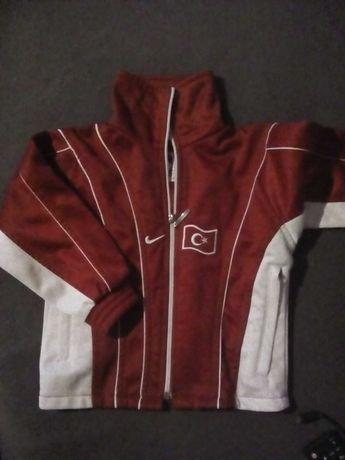 Bluza bialo czerwona na zamek