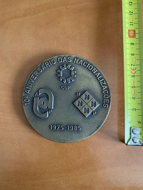 Medalhas comemorativas Quimigal e Bombeiros