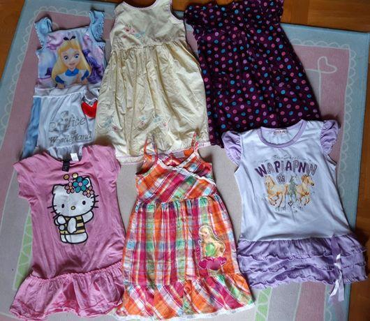 Mega paka letnie ubrania, Dziewczynka, sukienki, strój, 4-5 lat, 18szt