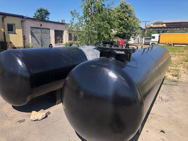 Zbiornik stalowy podziemny LPG, propan butan (gaz) 6,7m3
