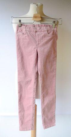 Tregginsy Różowe H&M 134 cm 8 9 lat Spodnie Sztruksowe Róż Sztruks