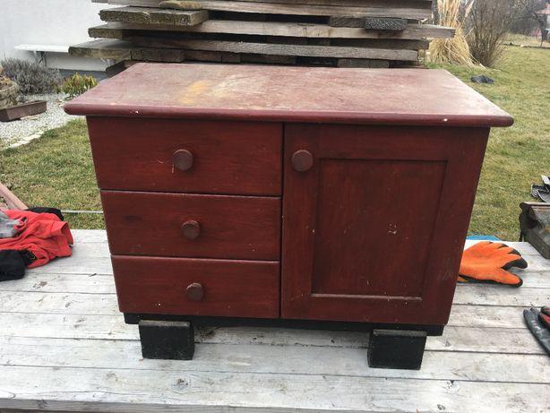 Stara szafka drewniana drewno