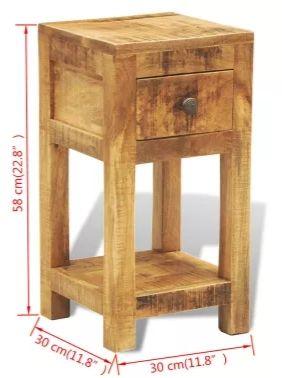 Stoliki z drewna Mango dwie sztuki