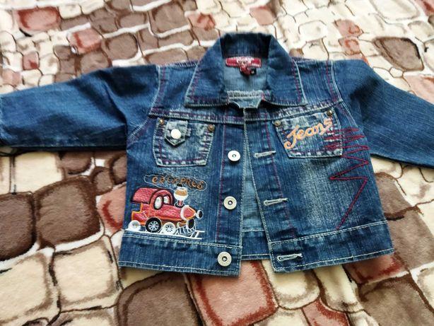 Куртка джинсовая на мальчика 74 см, идеальное состояние, отправлю