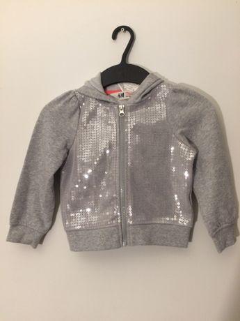 Bluza H&M 92 cm szara z kapturem wyprzedaż szafy tanio połowa ceny