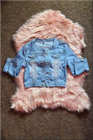 Nowa kurtka katana jeansowa, rękaw 3/4, must have do sukienek