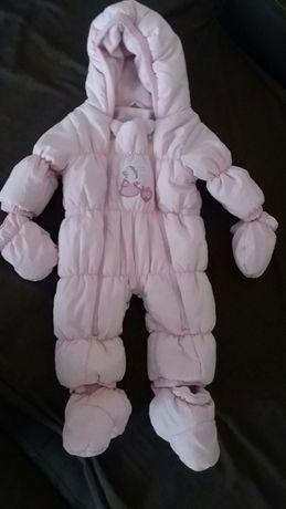 Kombinezon zimowy niemowlęcy rozmiar 62 ciepły ! Polecam !