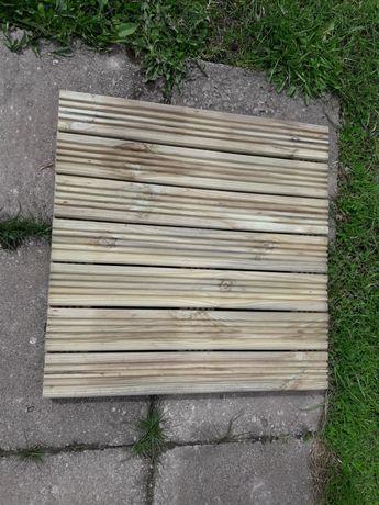 Podest tarasowy,ogrodowy,ryflowany drewniany 50x50 sosna balkon,pomost