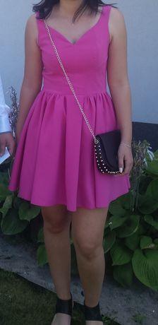 Sukienka różowa na wesele M