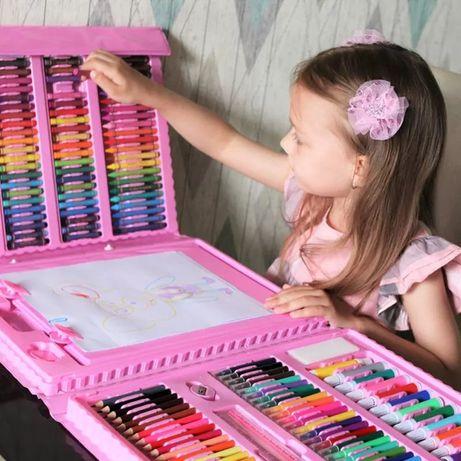 ХИТ! Большой детский набор для рисования Super Art Set, 208 предметов