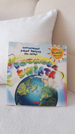 Ilustrowany atlas dla dzieci + PLAKAT 100x70 cm