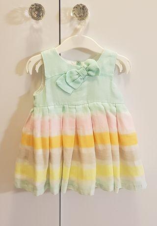 Sukienka MAYORAL 24 miesiące tęczowa kolorowa chrzest elegancka ZARA