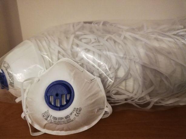 maska, półmaska przeciwpyłowa z zaworkiem
