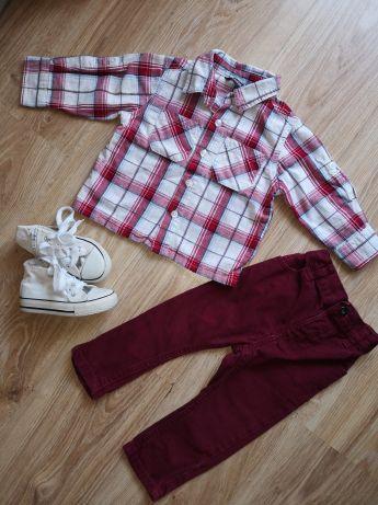 Koszula spodnie rurki gratis trampki
