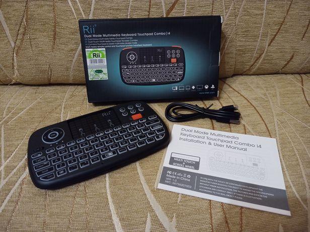 Klawiatura bezprzewodowa Rii i4 - Bluetooth - 2.4GHz - podświetlenie